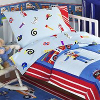 Heroes - 4pc Police and Firefighters Bedding Set - Toddler ...