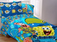 Spongebob Comforter Set - Pajama Party Comforter Sham - Twin