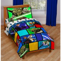 4pc STAR WARS Wisdom TODDLER BEDDING SET - Comforter ...