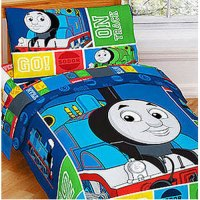 nEw 4PC THOMAS TRAIN TODDLER BED SET - Tank Track Engine ...