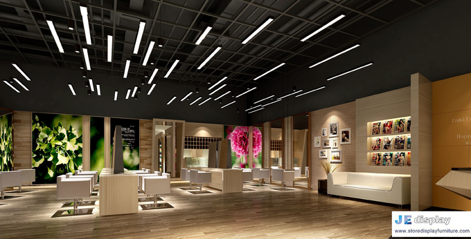 Fashion Hair Salon Center In Contracted Design With Light