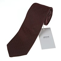 Giorgio Armani Silk Gents Designer Mens Red Burgundy Neck ...