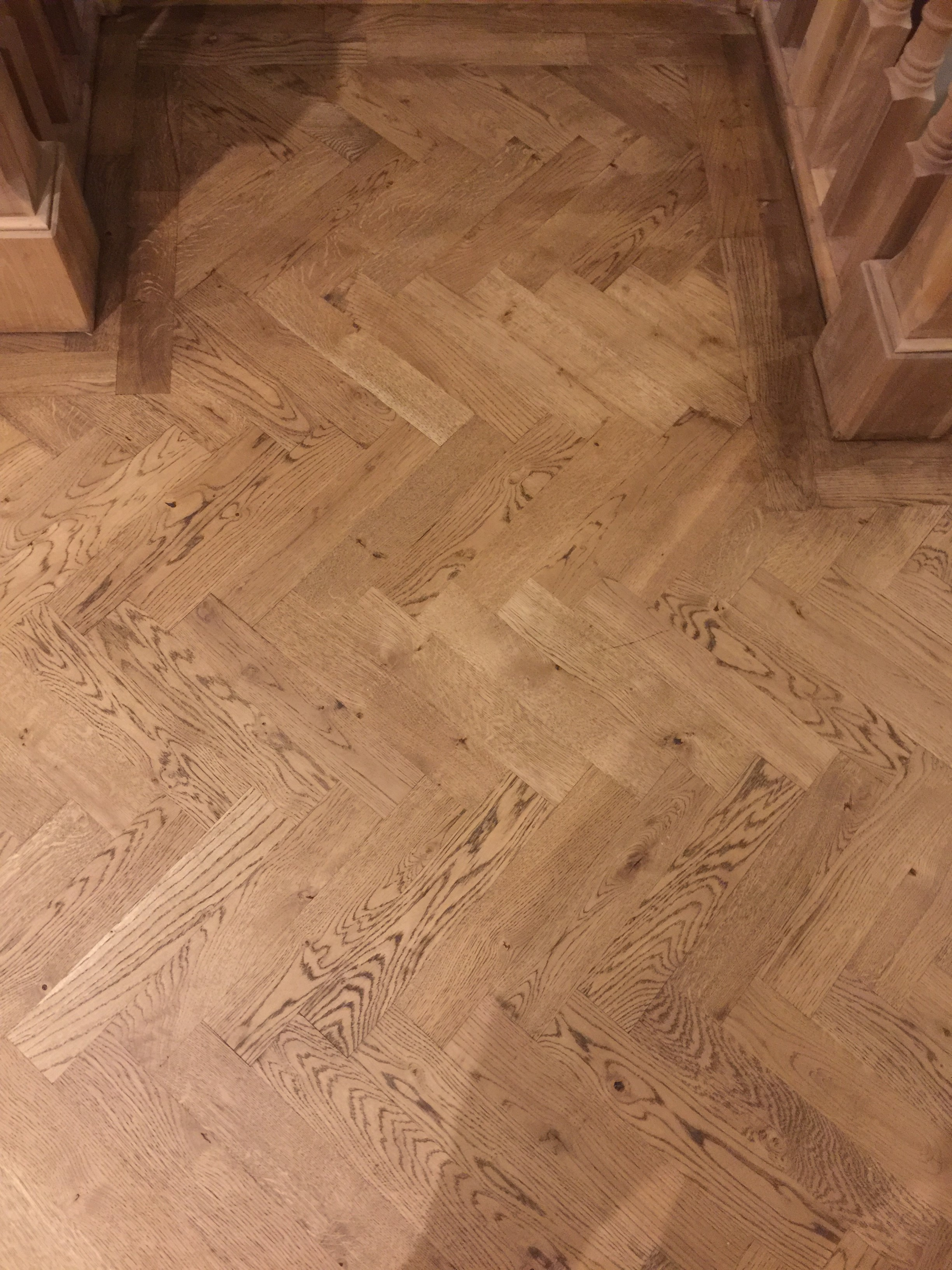 Bois Parquet Parquet Solid Oak Wood Flooring 300mm X 60mm X 22mm Herringbone Or