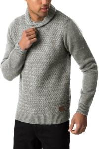 Threadbare Mens Sweater Oslo New Shawl Neck Jumper Chunky ...