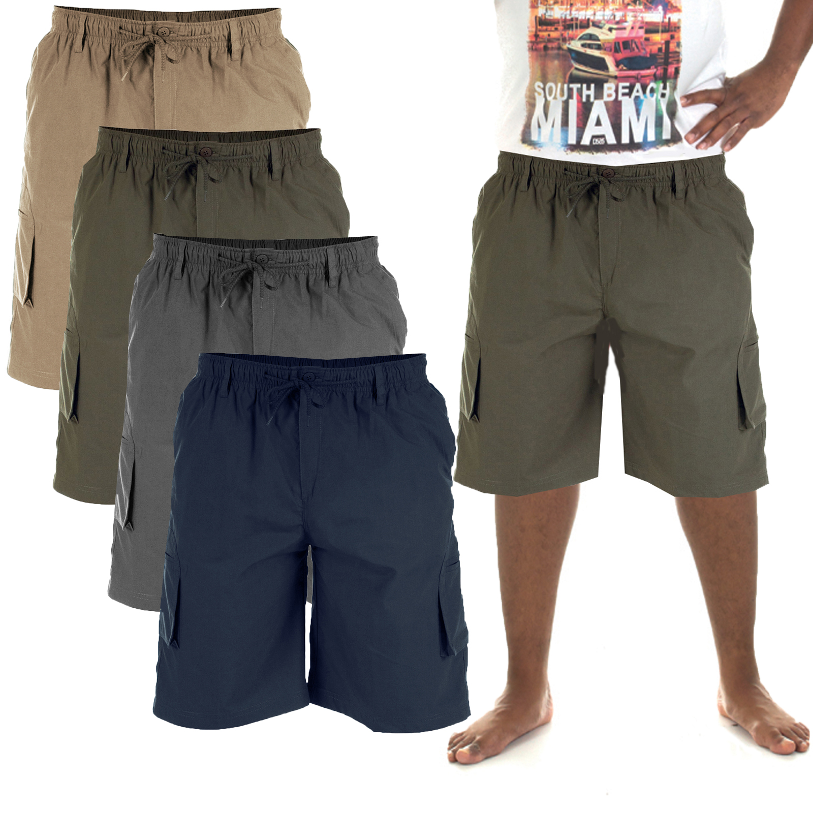 King Size Clothing Duke D555 Mens Big Tall King Size Nick Cargo Combat Shorts