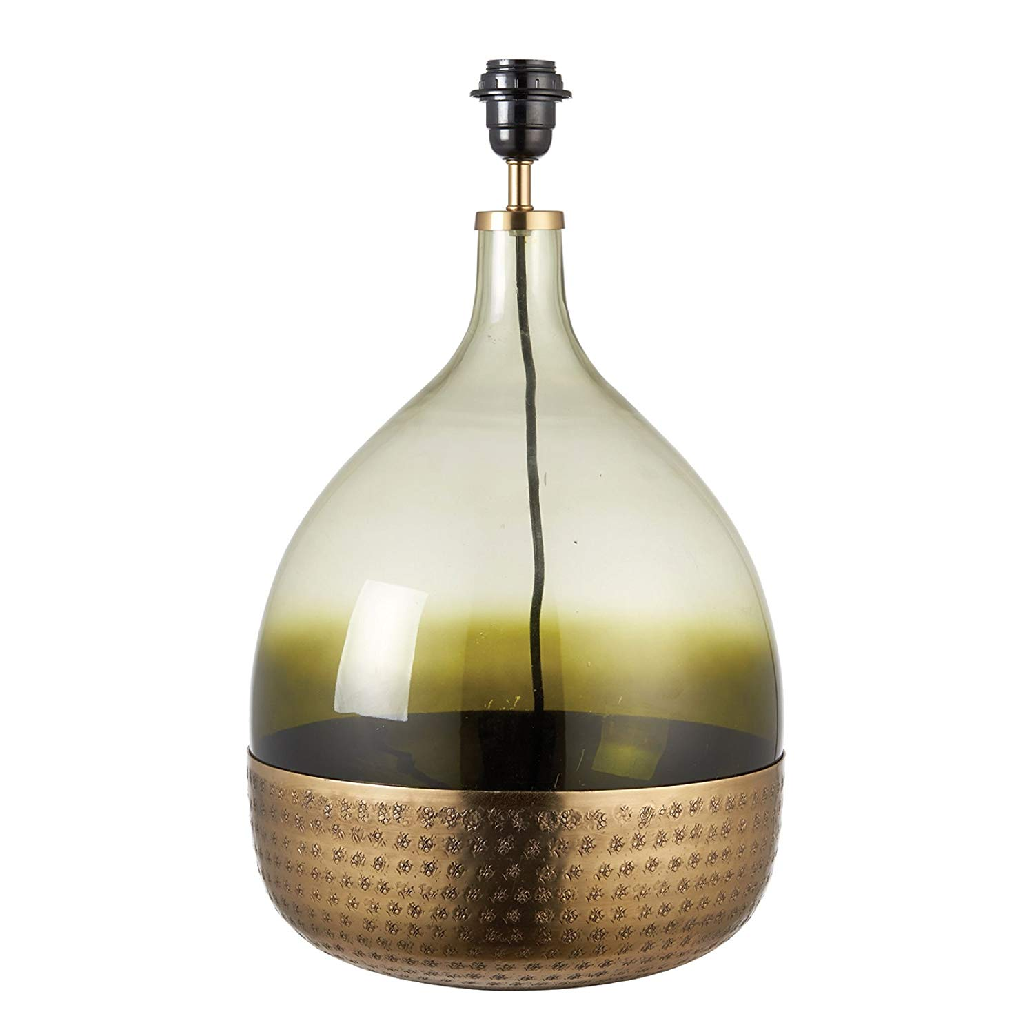 Glass Lamp Tables Ireland Milo Lighting Sultan Table Lamp Base Green Glass And Satin Brass