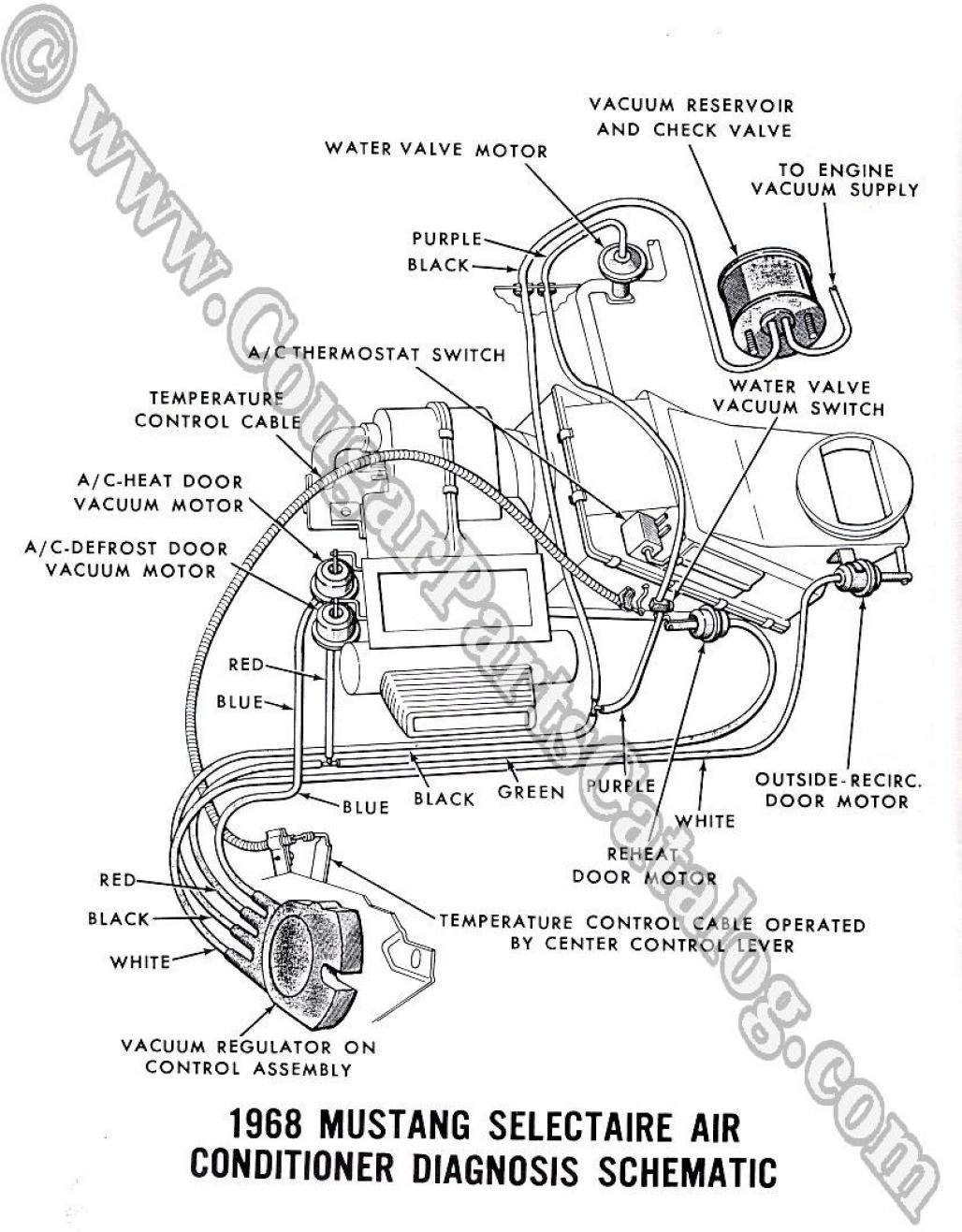 schematic diagram 1967 1968 mercury cougar