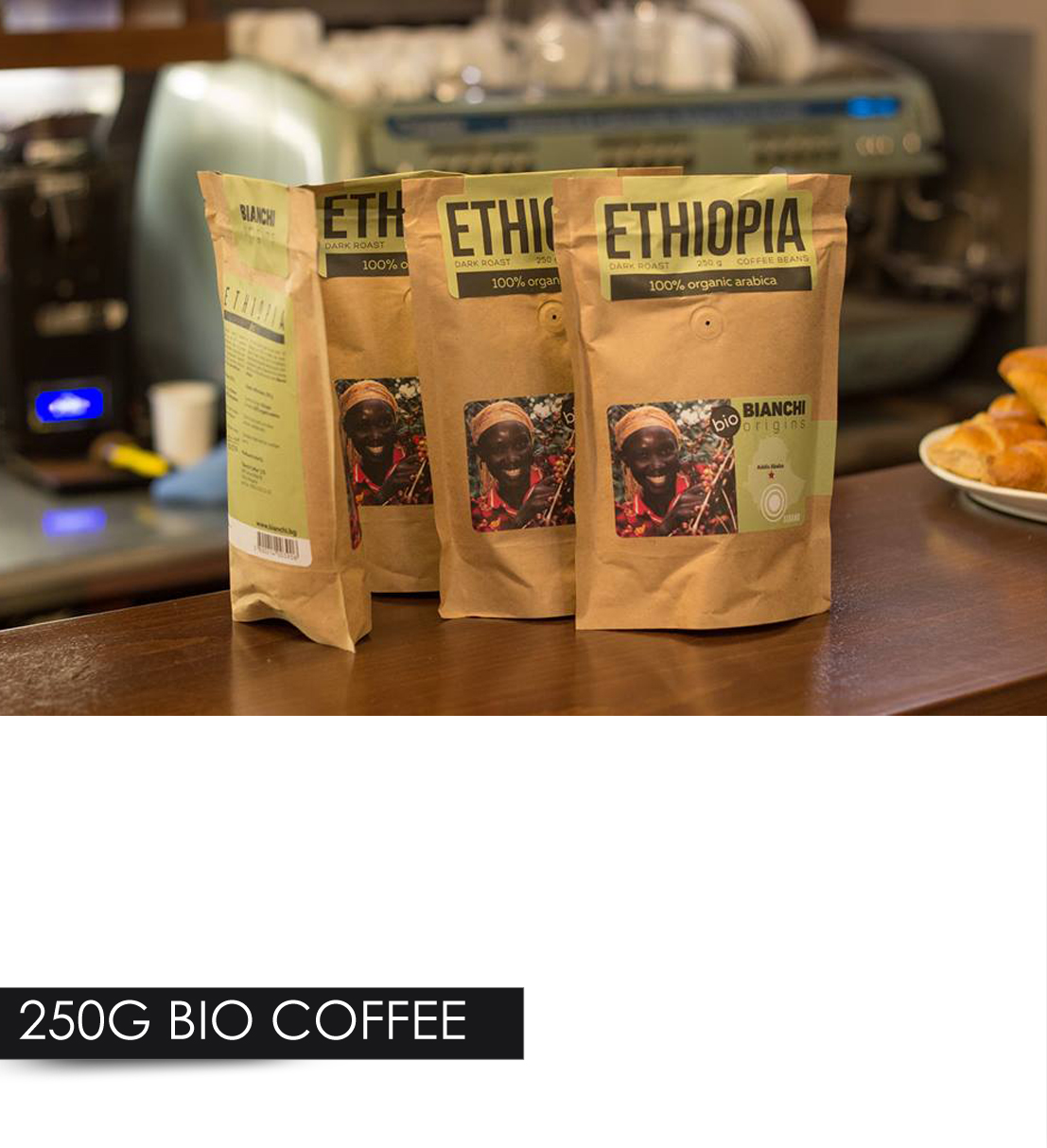 Coffee Arabica In Ethiopia 250g Bio Coffee 100 Organic Arabica Coffee Beans Bianchi