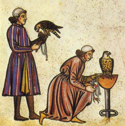 Falconry_Book_of_Frederick_II_1240s_detail_falconers3
