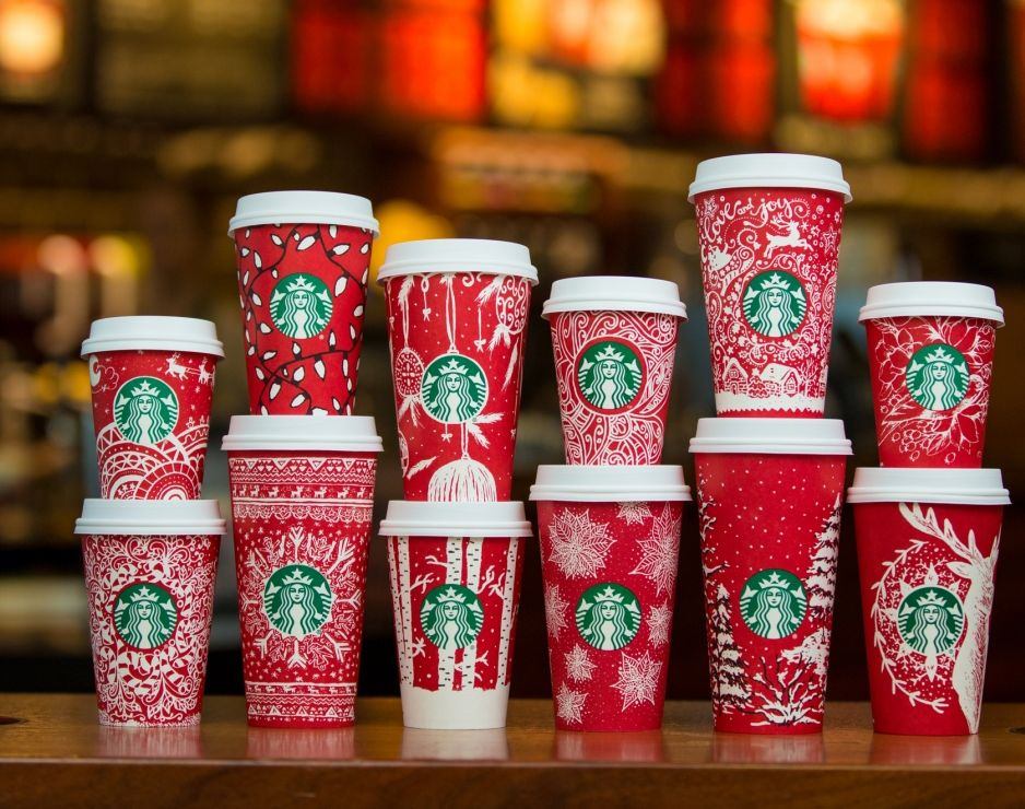 Starbucks Unveils 2016 Holiday Red Cups