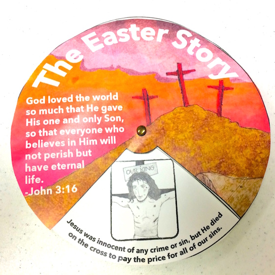 Easter Story Wheel Printable Craft - Stories By Stephen