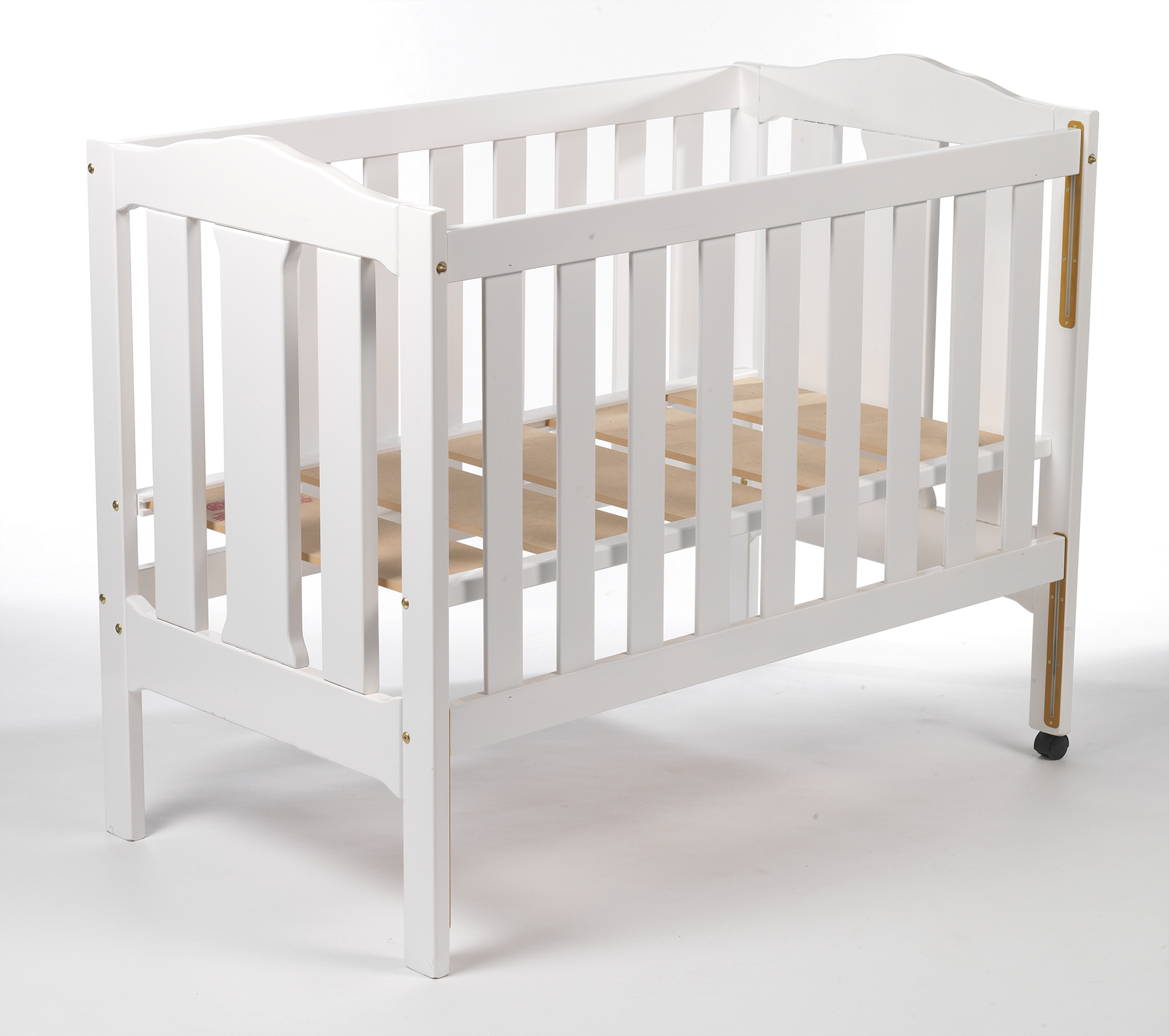 Natural Timber Cot Safe Sleeping Place For Small Children Cribs With Side Protection
