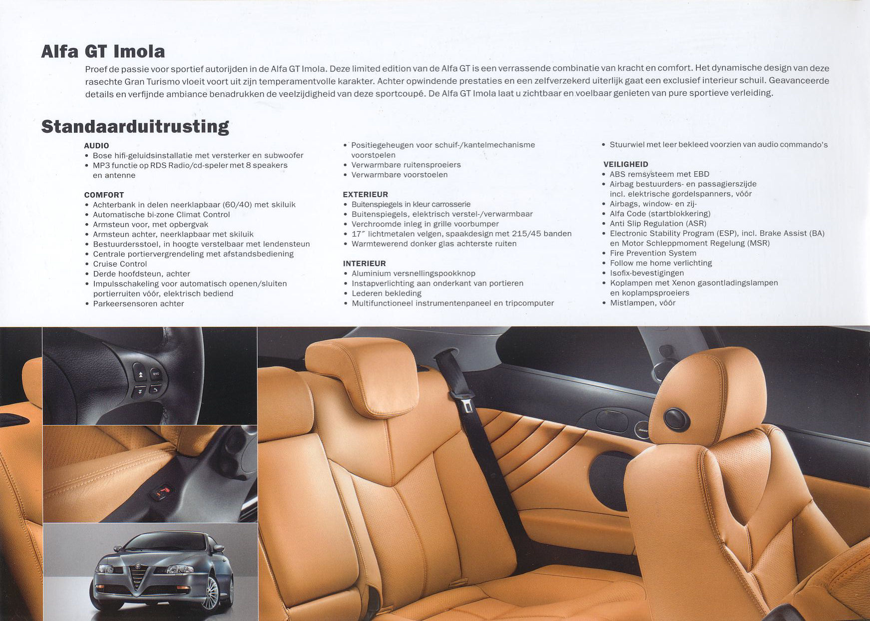 Follow Me Home Verlichting Renault 2007 Alfa Romeo Gt Imola Brochure
