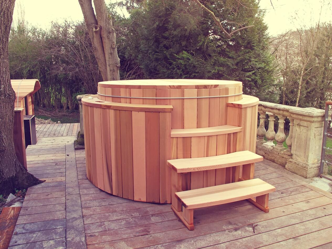 Jacuzzi Exterieur Inox Free Wooden Spa Above Ground Strvatt With Jacuzzi Hors Sol