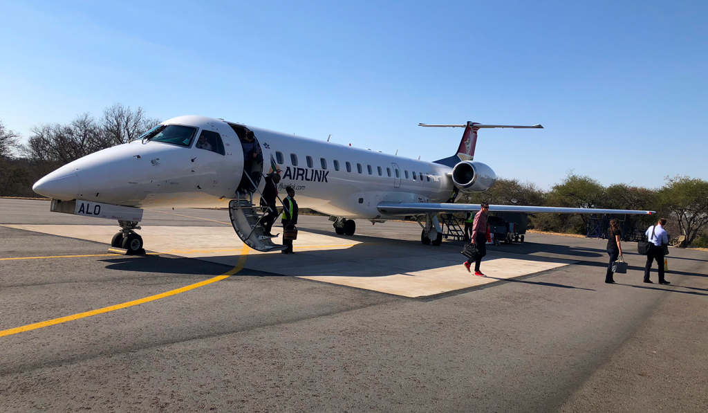 Arriving to Kruger National Park in the tiny plane from Johannesburg.