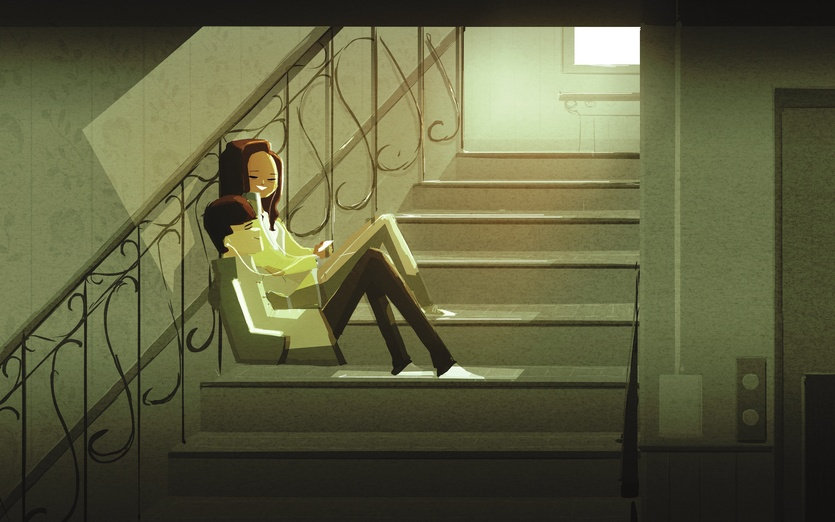 Free Cute Cartoon Wallpapers Sitting On The Stairs By Pascal Campion On Storybird