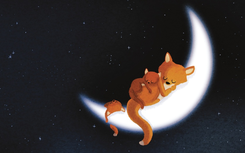 Cute Little Kid Wallpapers Fox Moon By Nidhi Chanani On Storybird