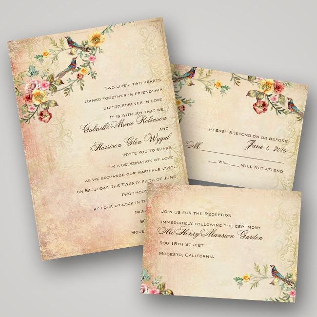 Invitations By Dawn Vintage Wedding Invitation Collection