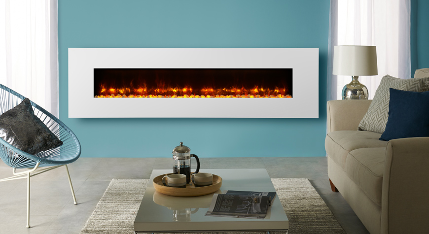 Elektrische Kachel Wandmodel Radiance Glass Electric Fires - Gazco Electric Fires