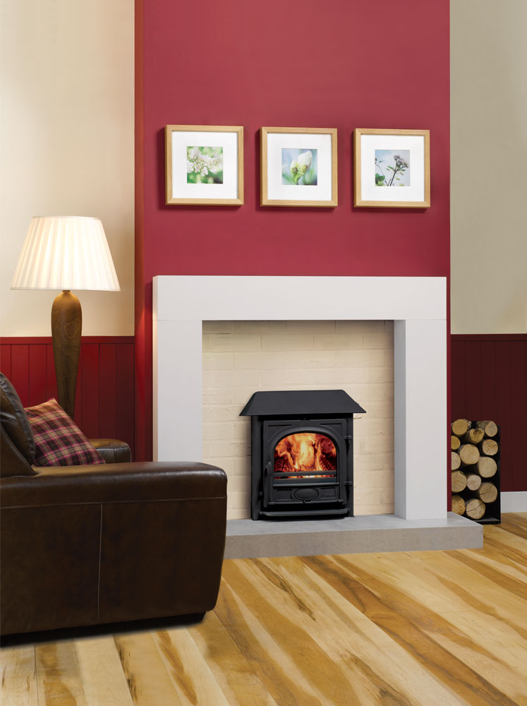 Fireplaces Mantels Ideas Stockton 7hbi High Output Inset Boiler Stove