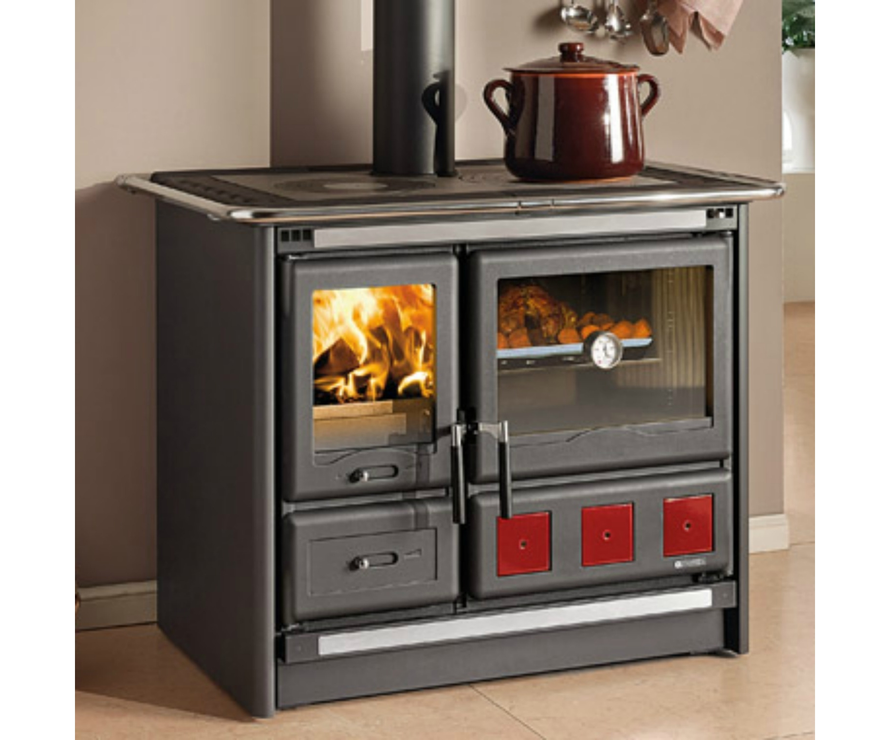 Cucina A Legna Rosa Xxl La Nordica Rosa Xxl Wood Burning Cooker At Stove Sellers