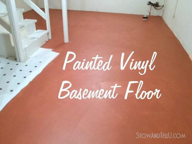 No-Slip Painted Vinyl Floor