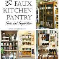 20 Faux Kitchen Pantry Ideas