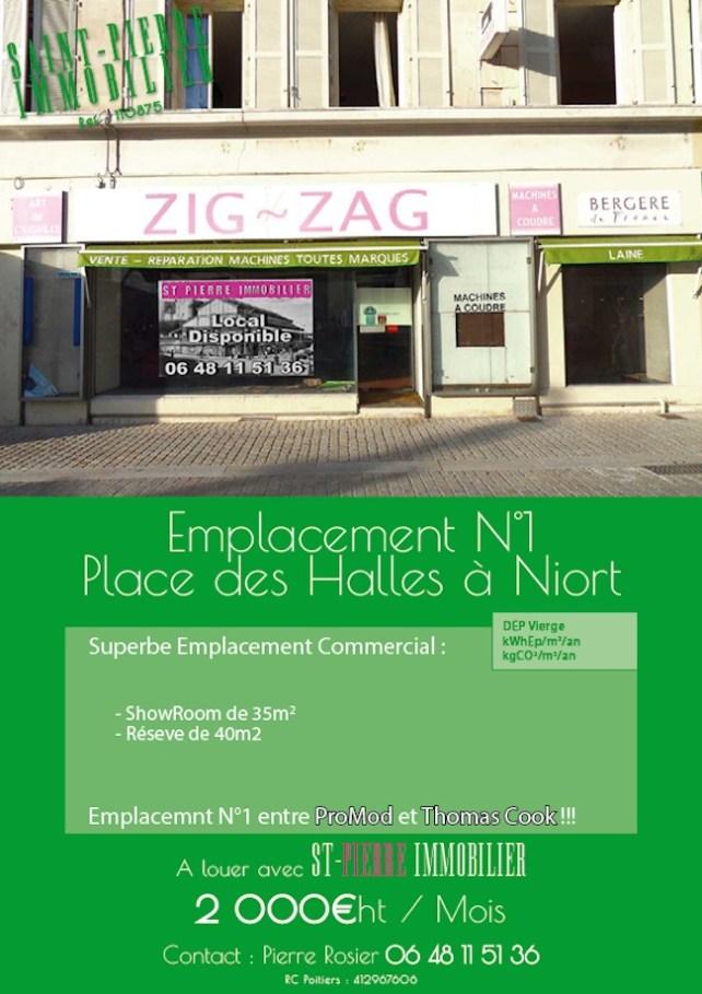 location local commercial emplacement numéro 1 place des halles a niort