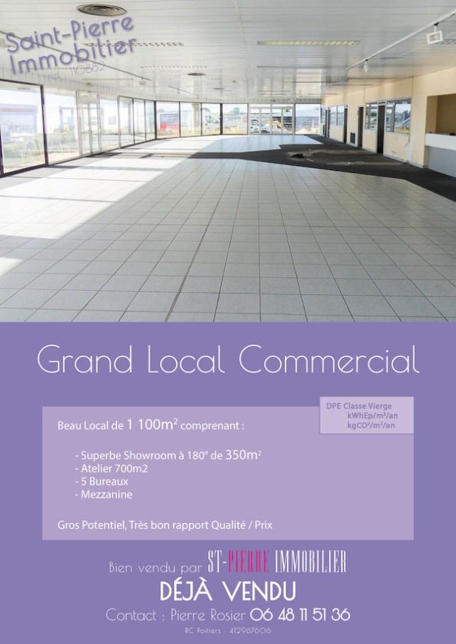 vente grand local commercial niort pointp