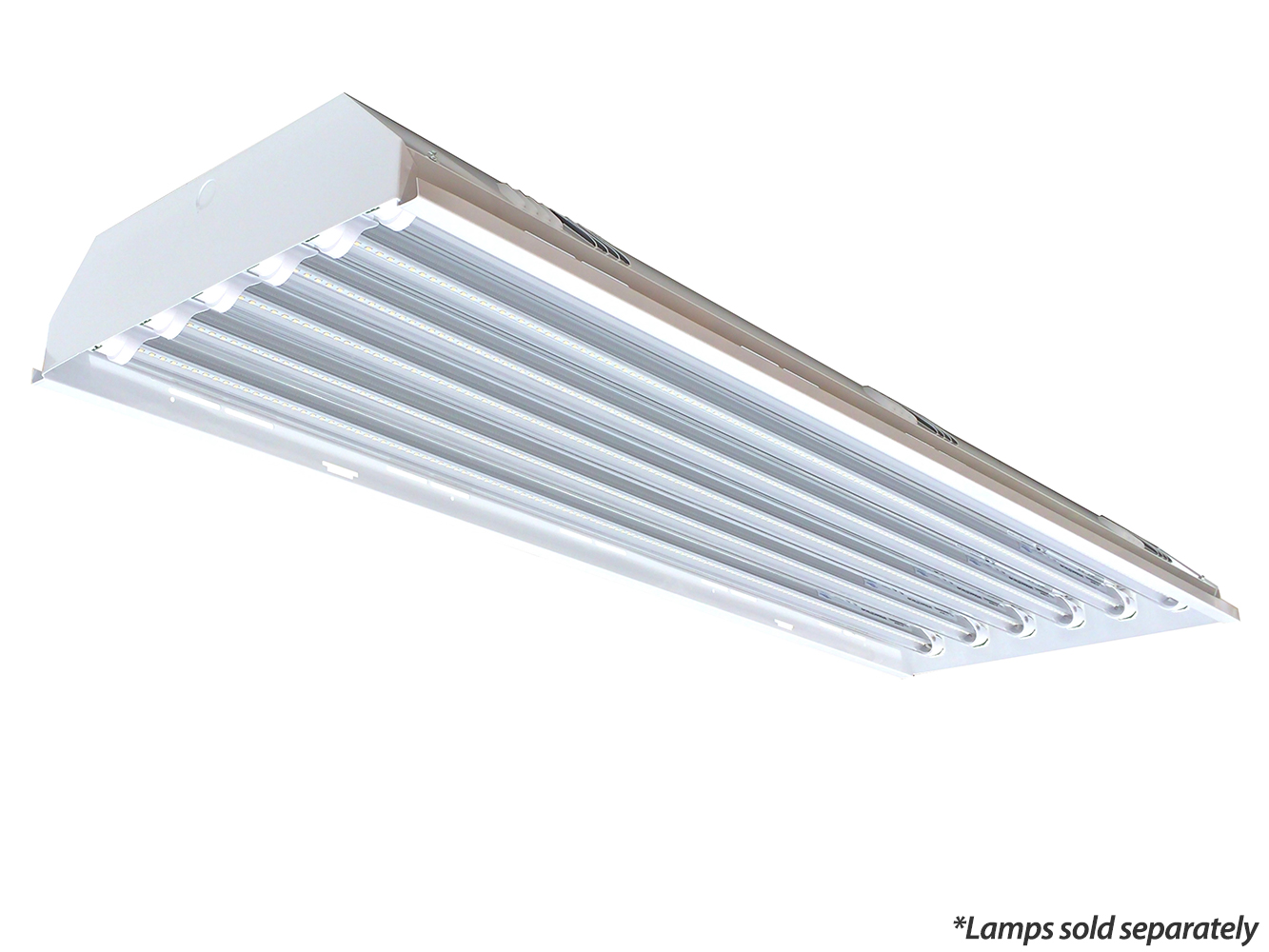 Led T8 Triton Low Bay 4ft 6 Lamp Tube Ready Fixture Fixture Only