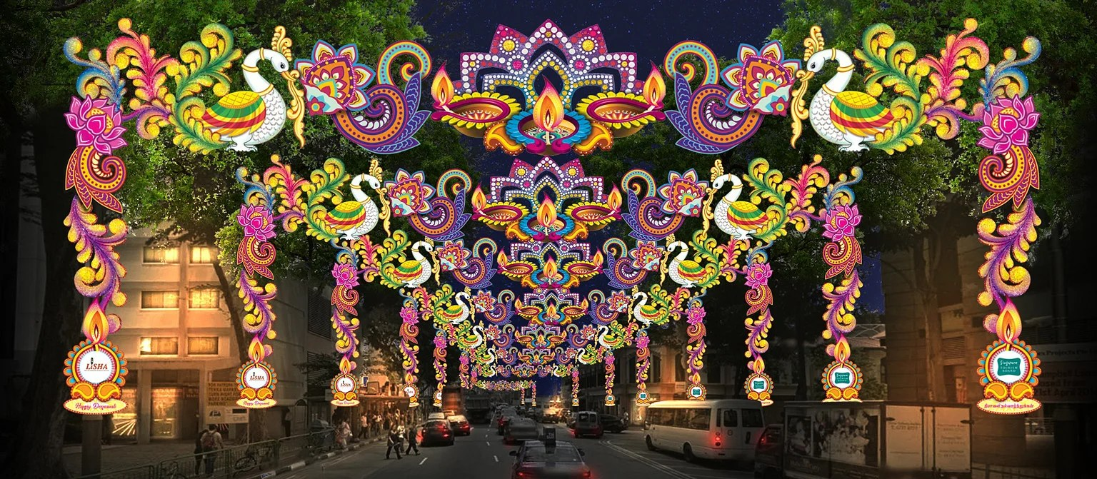 Light Decoration Diwali Little India To Celebrate Its 30th Year Of Deepavali Light