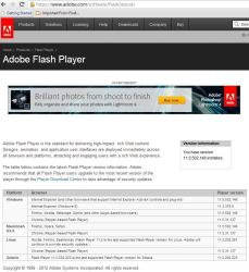 Adobe Flash Now Working