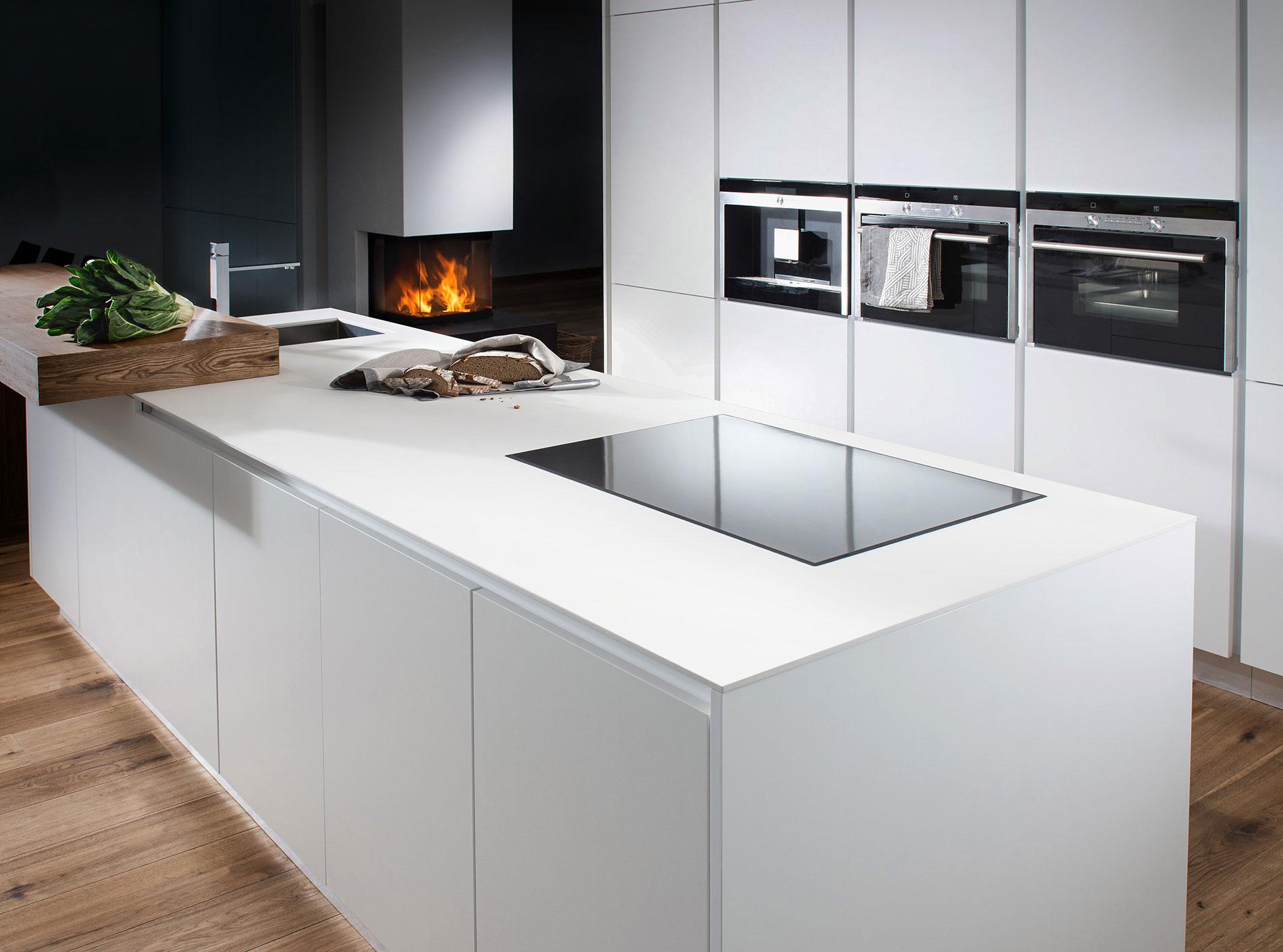 Glas Als Arbeitsplatte Küche | Spritzschutz Individuell Für ...
