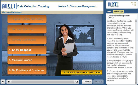 RTI International Online Training Modules StratComm Inc