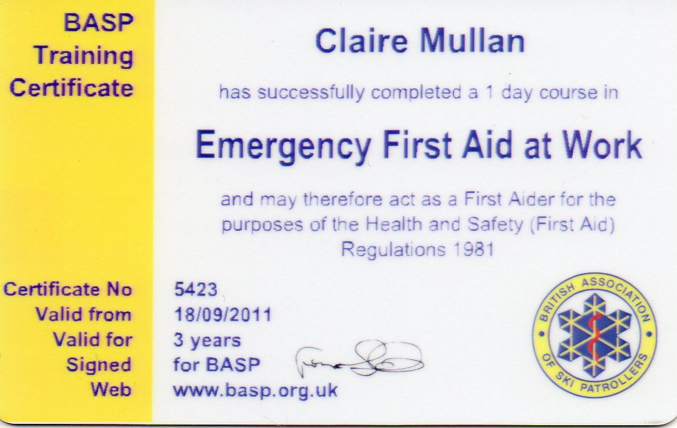 First Aid Certificate Template - mandegarinfo