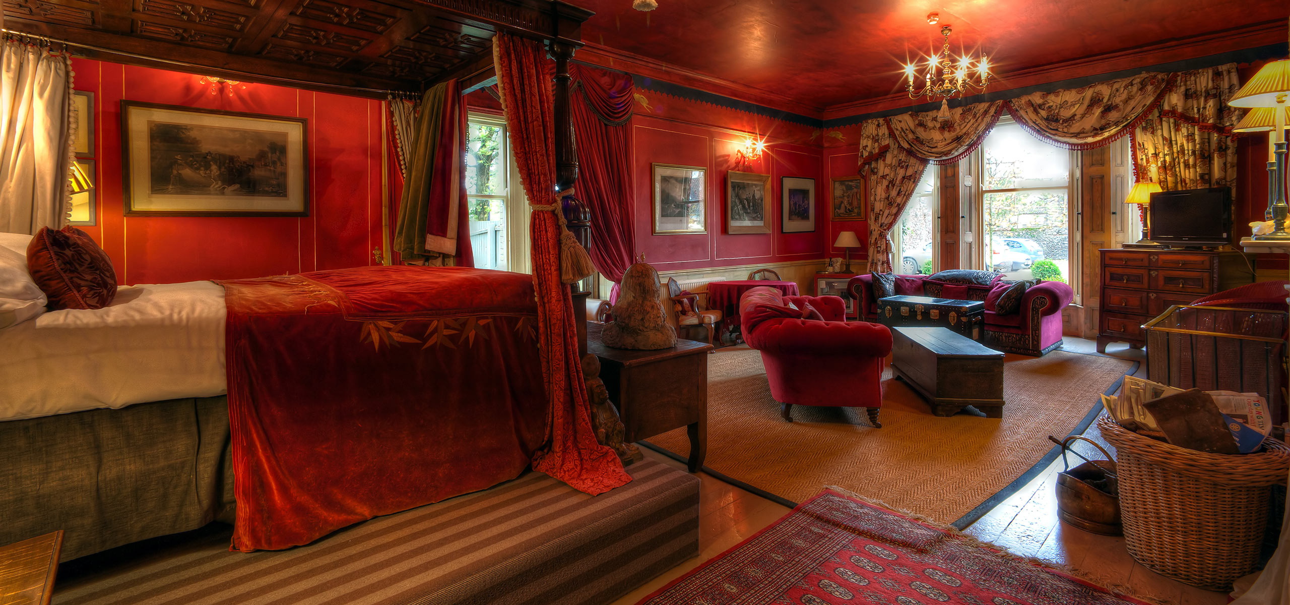 A Sofa Bed Red Room | Strattons Hotel, Luxury Boutique Hotel
