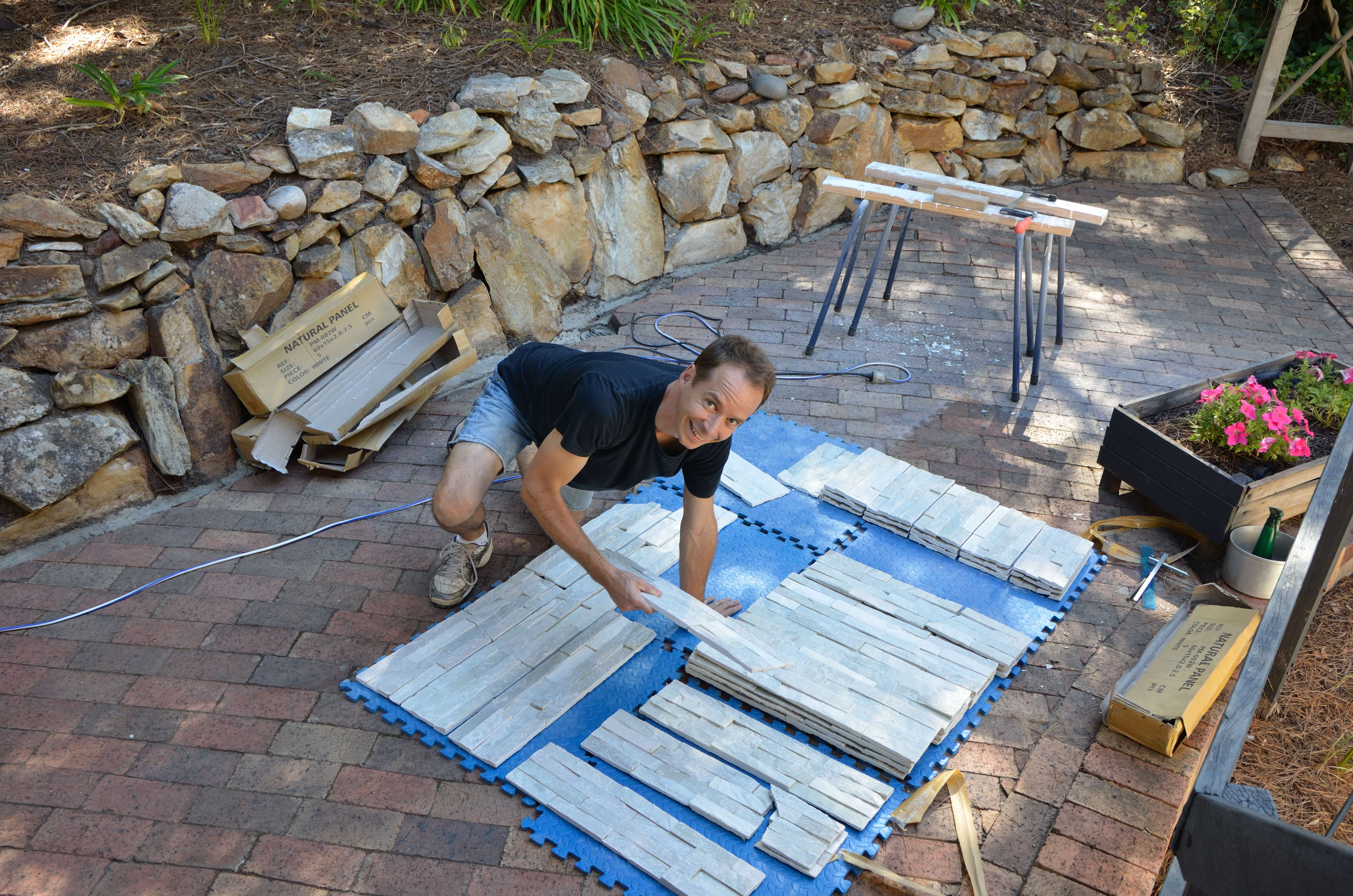 Stack Stone Bunnings Building Our Cosy Stone Fireplace