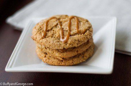 Gluten Free Caramel Macchiato Cookies drizzled with dulce de leche - adapted from the amazing blog - Wanna Be a Country Cleaver.