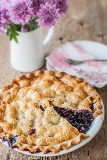Black Raspberry and Cherry Pie with a Gluten Free Crust. Make it with fresh berries and cherries in the summer and use frozen in deep dark winter.