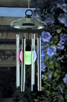 Cole & Bright 18354 Solar Colour Changing Windchime Light available from Strawberry Garden Centre, Uttoxeter