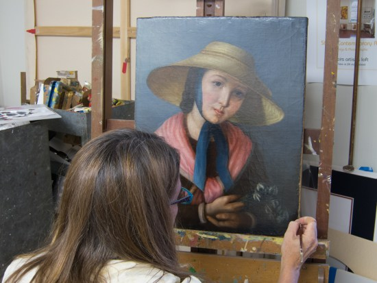 Restoring Oil Painting Portrait