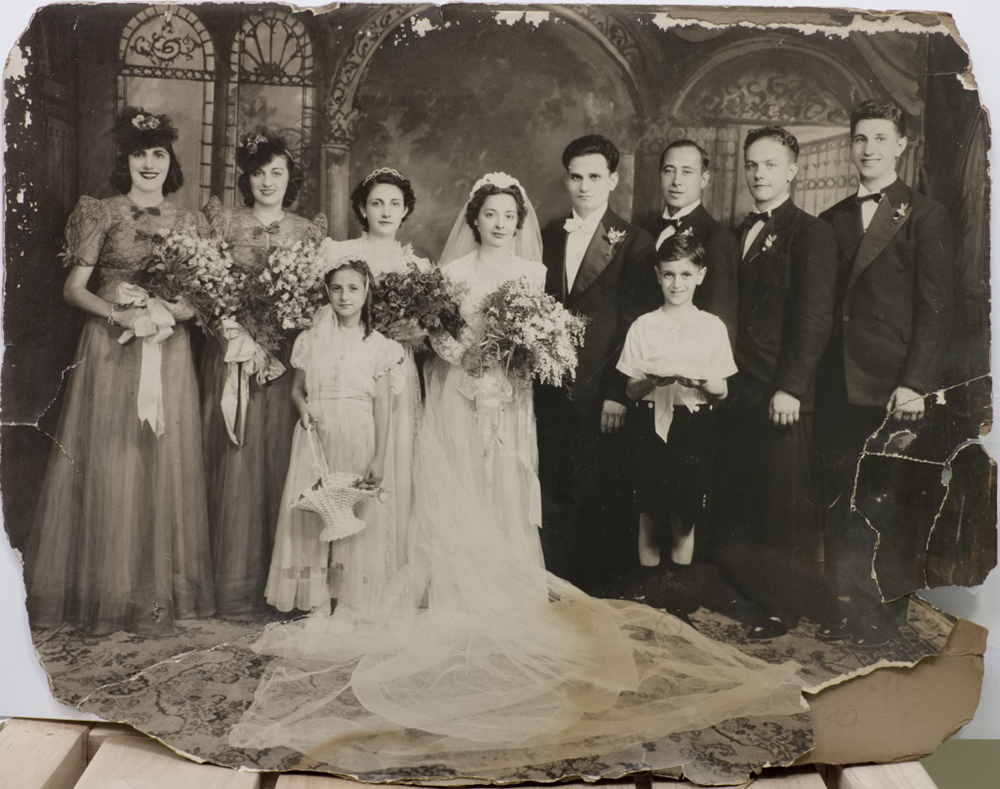 Wedding Photo Restoration Before