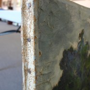 Damaged Landscape Oil Painting Repaired