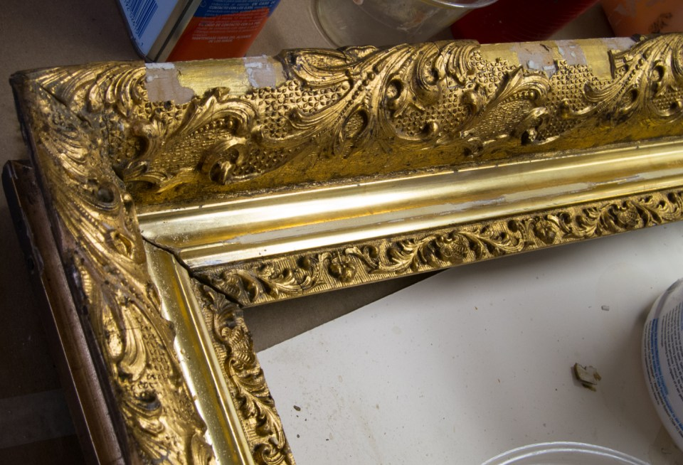 Damaged Frame Detail Before