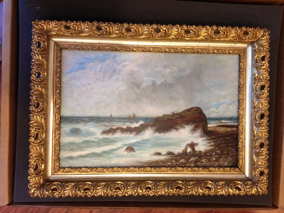 Seascape painting restored by Strazza Art Restoration in Southport, NC