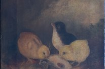 Baby chicks painting restored