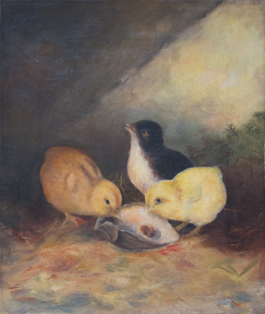 Baby-Chicks-Painting-Finished-Restoration