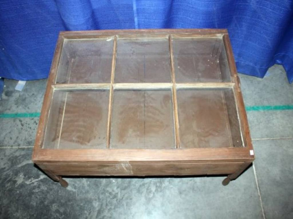Display Case End Table Glass Top Window Pane Display Case And Coffee Table