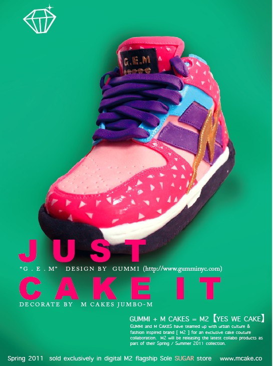 Sneaker Cake my M CAKE & Gummi