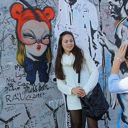 Mis Van Street art and Girl in Germany